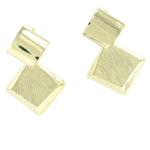 Solid Rectangle Clip  Earring