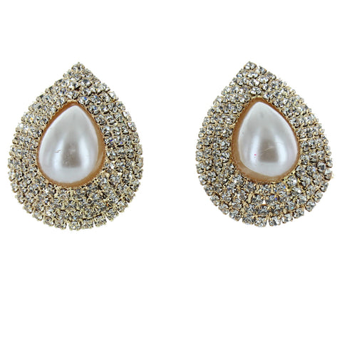 Fire Pearl Flame Clip Earring