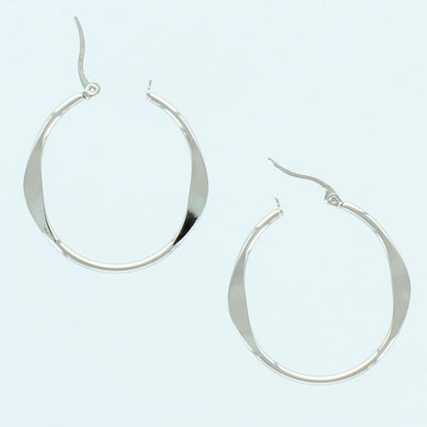 Marbled Stainless Steel Hoop