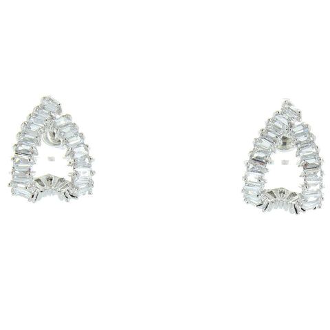 CZ Curved Earring