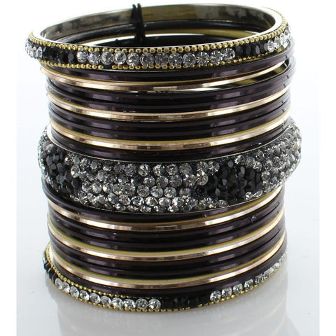 Black Diamond Stack Bangle