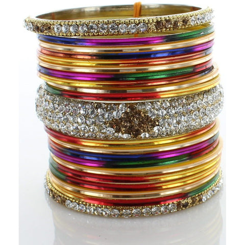 Multi Diamond Stack Bangle