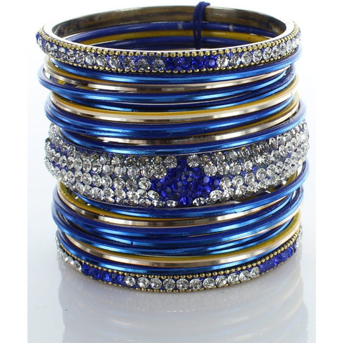Dark Blue Diamond Stack Bangle
