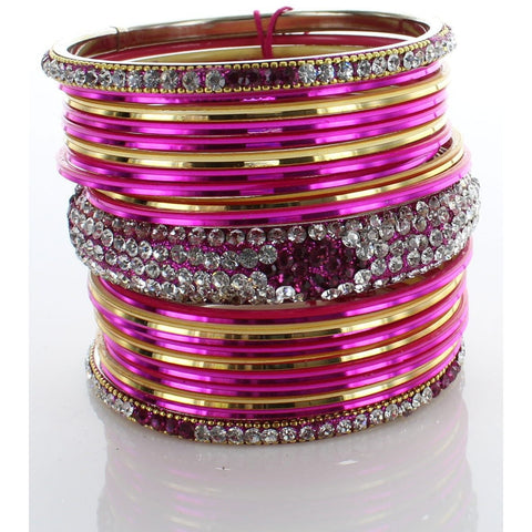 Pink Diamond Stack Bangle
