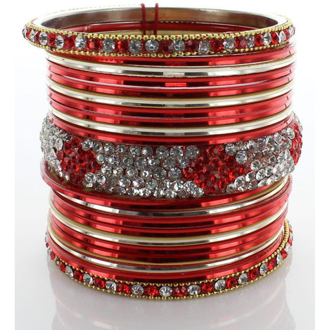 Red Diamond Stack Bangle