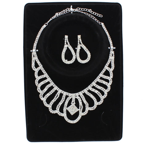 Bless Rhinestone Necklace Set