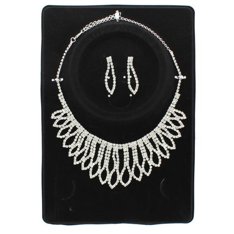 Jolie Rhinestone Necklace Set