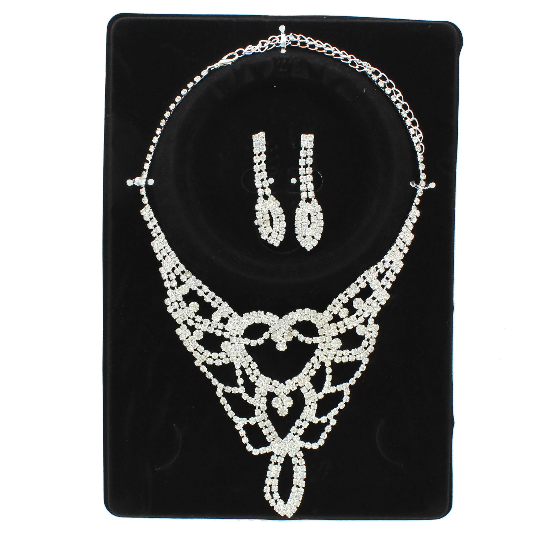Flame Rhinestone Necklace Set