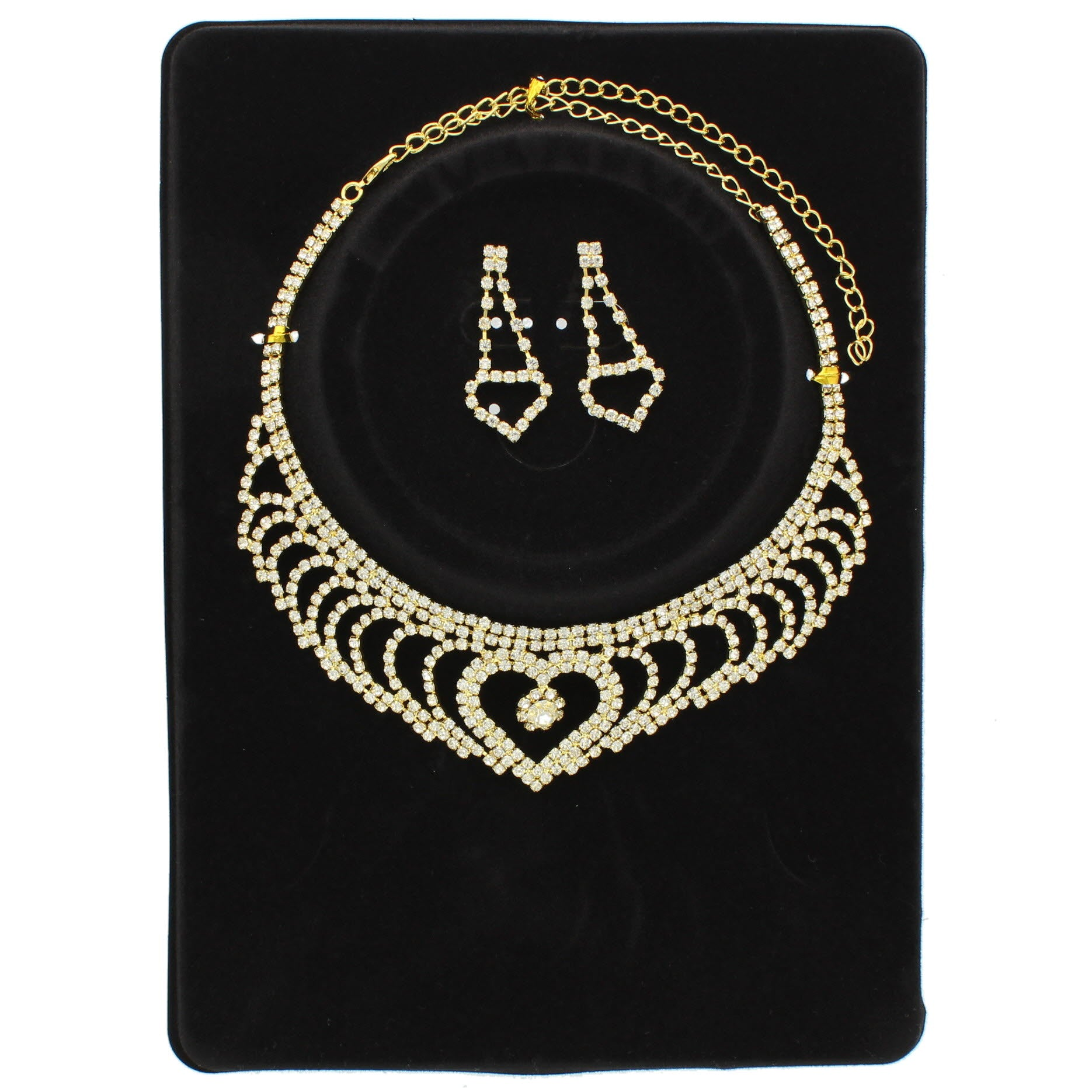 Heady Rhinestone Necklace Set