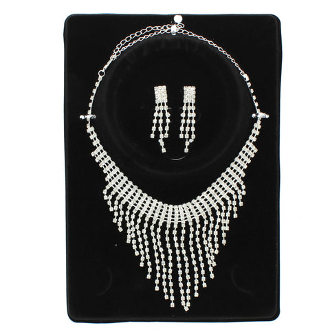 Sporty Rhinestone Necklace Set