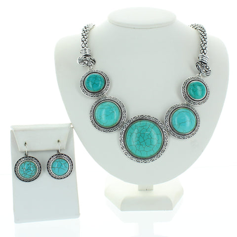 Antique Circle Turquoise Necklace