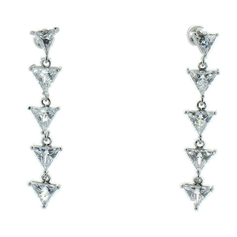 CZ Layered Triangle Earring