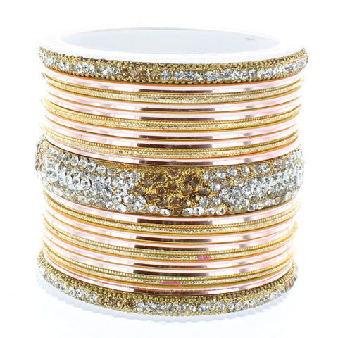 Gold Diamond Stack Bangle