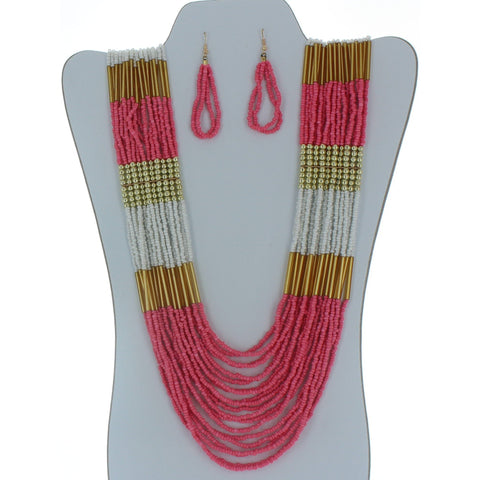 Seed Bead Necklace Set