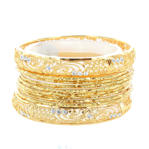 Smoky Diamond Indian Bangle