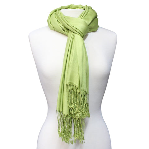 This solid color Pashmina is perfect for every occasion and ideal for daily use. Comes in a variety of colors. Can be worn as a scarf or as a wrap.