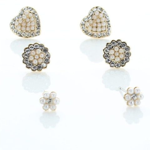 3 Pairs Gorgeous Pearl Earring