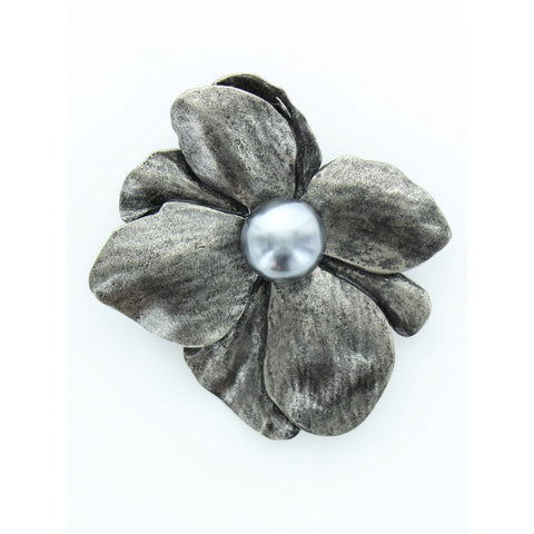 Metallic Flower Pin