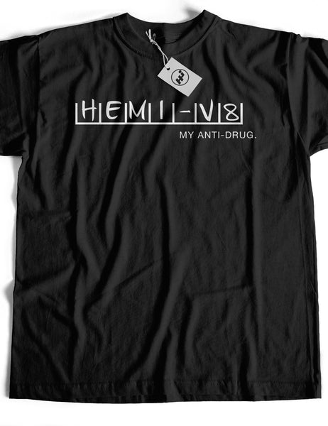 Hemi V8 My Anti-Drug Short Sleeve Cotton T-Shirt