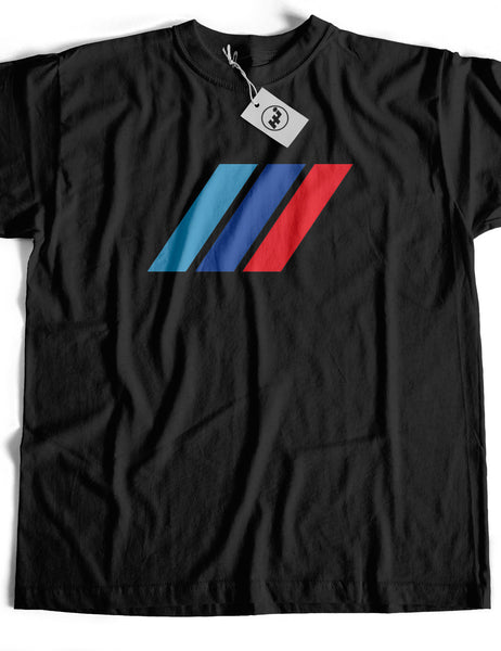 M Stripes Badge Short Sleeve Cotton T-Shirt
