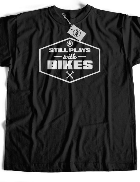 Still Plays With Bikes Short Sleeve Cotton T-Shirt