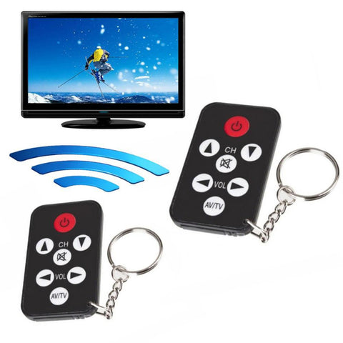 Mini Universal Infrared IR TV Remote Control Controller 7 Keys Button Keychain Key Ring Wireless Smart Remote Control
