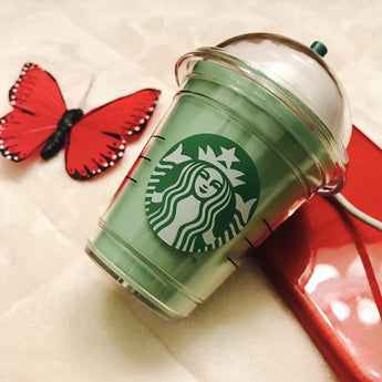 Double Whipped Iced Green Latte 2600mah Coffee Cup Power Bank