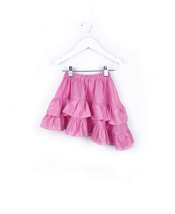 the azalea ruffle asymmetrical skirt