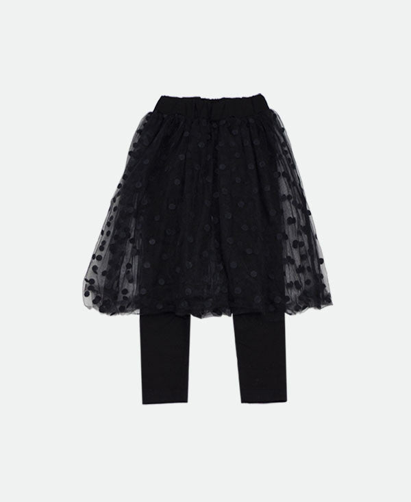the black licorice tulle skirted legging
