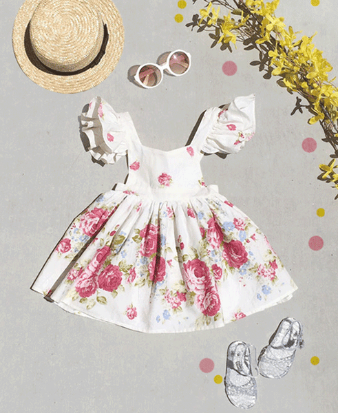 the garden rose tea dress