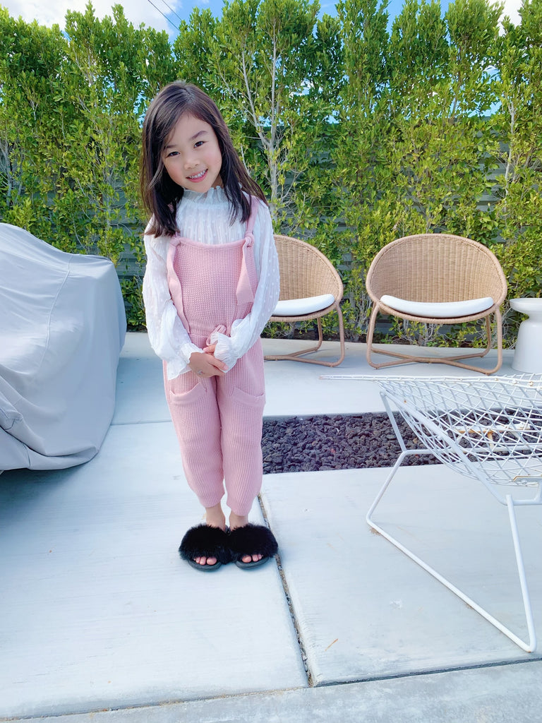the baby waffle overall - pink