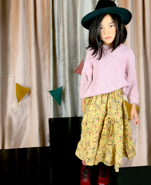 THE AUTUMN FLORAL PEASANT SKIRT