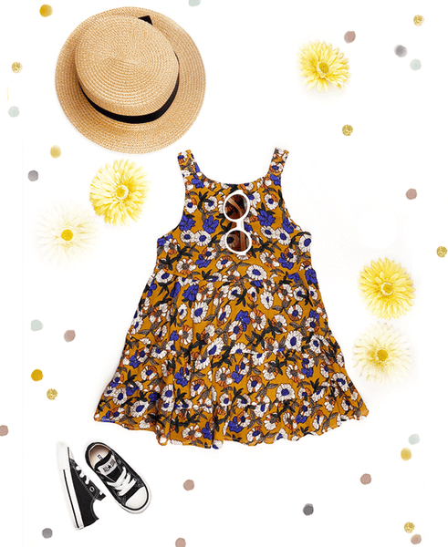 the summer florals sundress