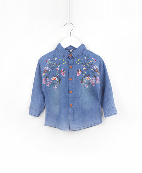 the wild flowers chambray shirt