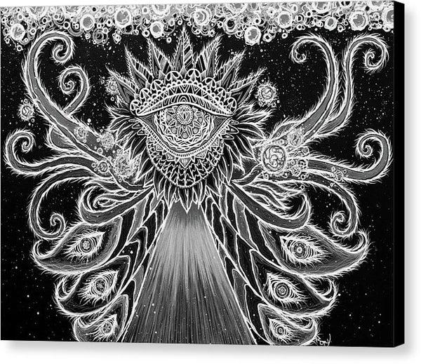 Divine Dance - Bw - By Rory Canfield - Canvas Print