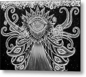 Divine Dance - Bw - By Rory Canfield - Metal Print