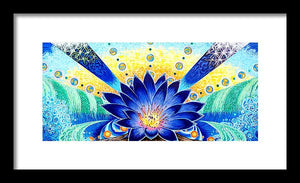 Blue Lotus - Framed Print