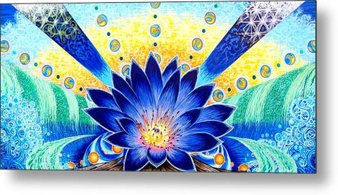 Blue Lotus - Metal Print