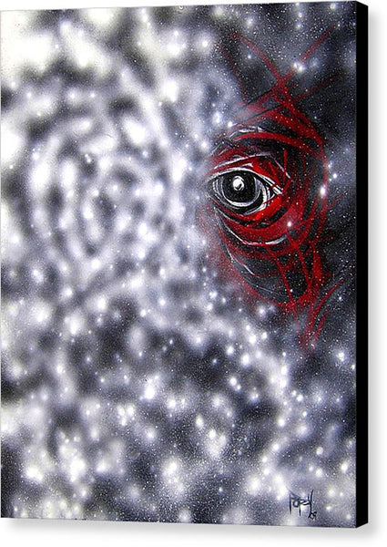 Cosmic Dust Face - Canvas Print