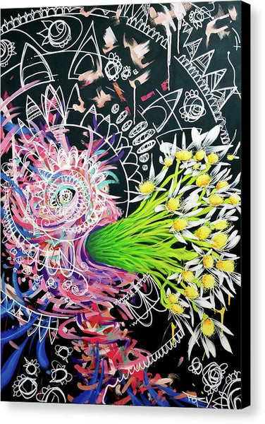Excuses  - And I Come Forth Out Of The Darkness Screaming Daisies In Bewilderment - Canvas Print