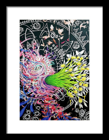 Excuses  - And I Come Forth Out Of The Darkness Screaming Daisies In Bewilderment - Framed Print