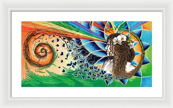 Melly Rainbows - Framed Print