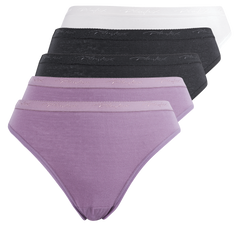 5 pack plain hi cut panty