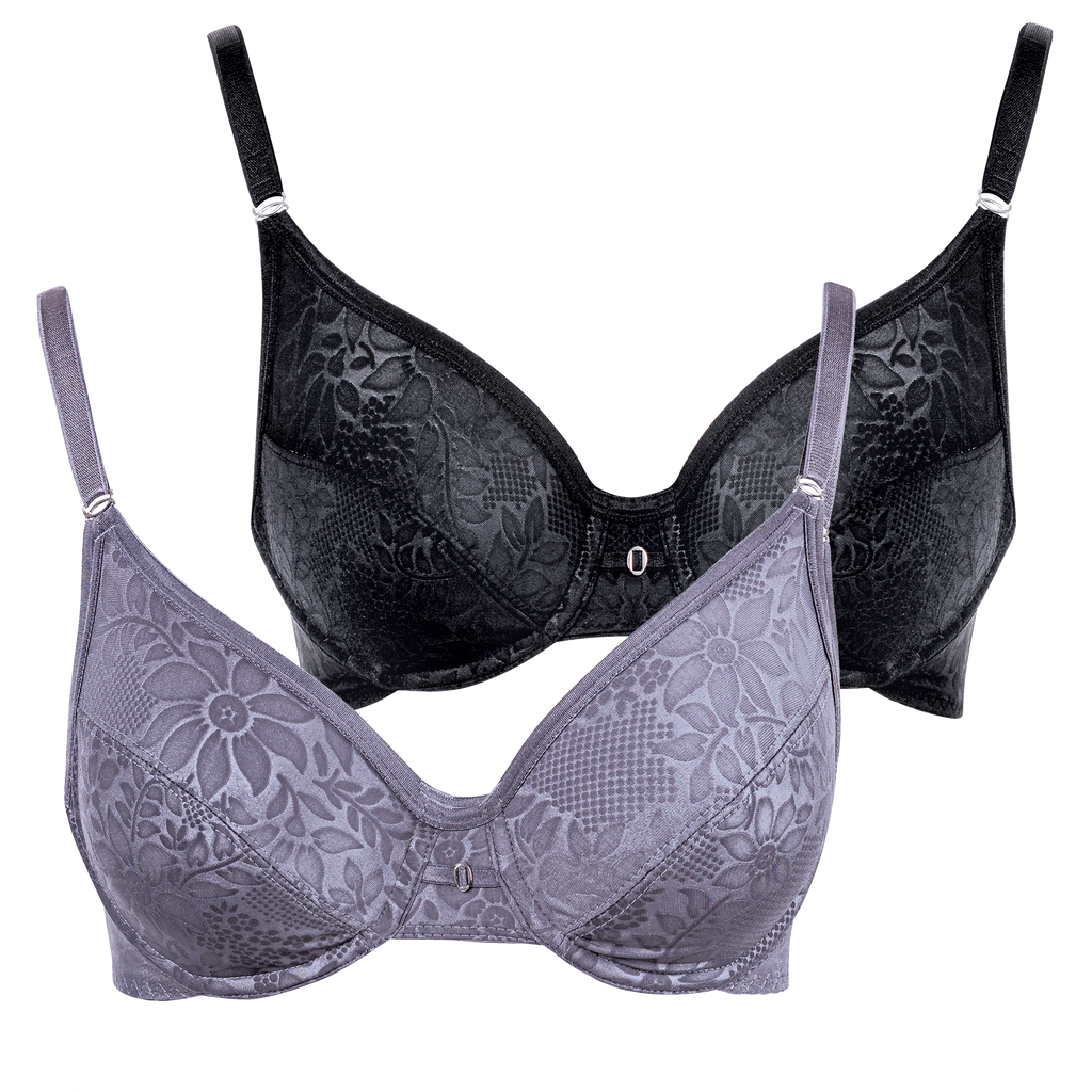 Everyday comfort - 2 Pack aurora underwire bra