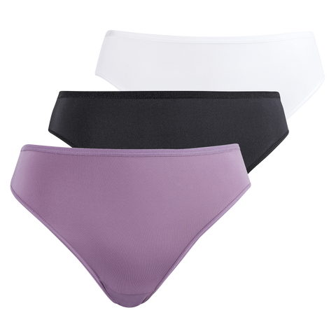 3 Pack plain hi cut panty