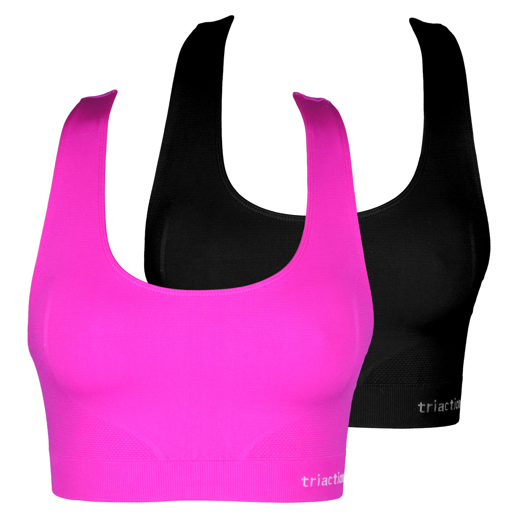 2 Pack - Triaction seamfree crop top