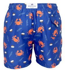 Crab Print Men's Swim Shorts shorts