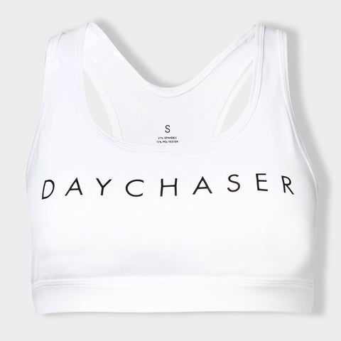 DayChaser Eve White Racer Back Crop