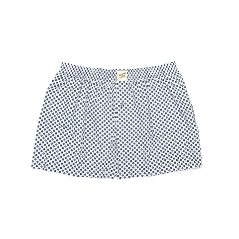 White Indigo Spot Boxer/Sleep Shorts