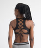 AZMI Black Lace Up Crop
